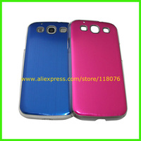 200pcs/lot,Brushed Aluminium Hard Metal Case Protector Cover for Samsung Galaxy S3 I9300+DHL Free shipping