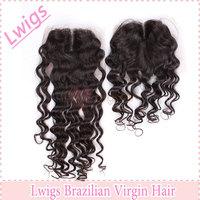 Fashion best selling natural color brazilian hair extension lace top closure brazilian hair 100% human hair closure