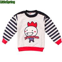 Retail In Stock! children sweater boys girls O-neck tops Kids cartoon sweater outerwear LittleSpring GLZ-S0013 XLS
