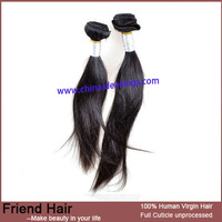DHL Free Shipping Stright  Natural Cheap Brazilian Virgin Hair Weaving Free to Dye to Light Color Wholesale Price
