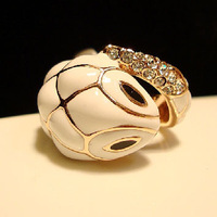 2014 New Fashion Jewelry Women's Accessories Exaggerated White Snake Pattern Ceramic Rings For Women Free Shipping