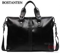 Hot sale men's genuine leather handbag male shoulder bag man briefcase free shipping