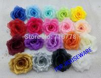 11cm 19colors Artificial fabric silk flower heads rose flower vine arch wedding flowers decoration diy props