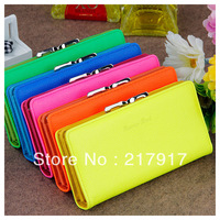FREE SHIPPING high quality women hasp leather purse mini coin haso wallet lady handbag/clutch 6 colors
