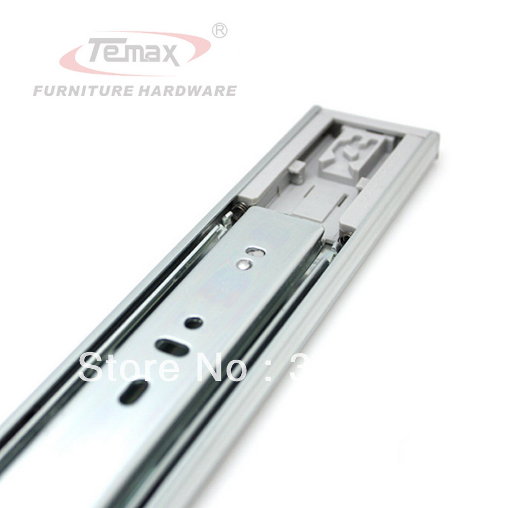 "16""push to open drawer slide with 3 section device ball bearing rebound furniture hardware cabinet glides(China (Mainland))"