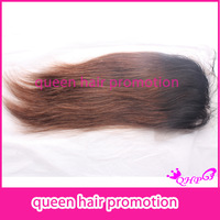Best quality  #1bT#33 two-one ombre color straight brazilian lace closure bleached knots with baby hair fast shipping