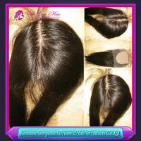 Top quality Straight Virgin Brazilian Hair Silk Base Lace Top Closure 4*4 inch Free Part/Middle Part/3part Hidden Knots