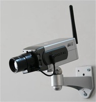 Wireless Dummy Fake camera Motion Detection Moving LED Surveillance Camera Free Shipping