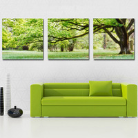 3 Panels Modern Canvas Decorative Wall Hanging Art Landscape Painting Picture , Free Shipping pt19