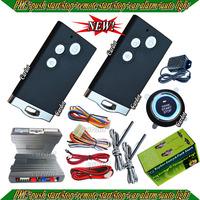 hot selling smart car alarm system,passive car alarm,RFID  chip key,lock or unlock automatically,remote start,push start button