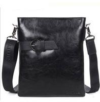 2013 Shoulder Casual designer Black color Genuine Leather men Messenger bags Fashion Mens bag of Body bag Danjue D8005