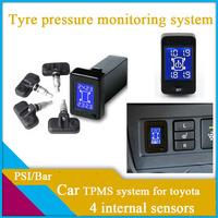 car TPMS for toyota ,car tyre pressure monitoring system,auto TPMS,internal sensors/external sensors for option