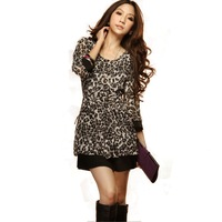 Women summer dress 2014 new fashion Sales Sexy Chiffon Leopard lace brand mini  dresses for women clothing party 483