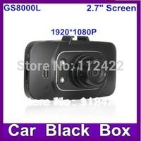 """GS8000L Car DVR 1080P Novatek+Glass lens +1920*1080+2.7""""+HD+ 4 IR Lights + Wide Angle 140 Degrees+car camera GS8000"""