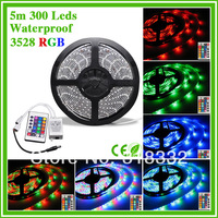 Holiday sale SMD3528 300 LEDs DC12V waterproof led strip with IR controller(only for RGB) strip light