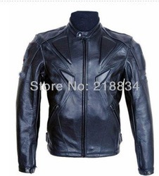 Free shipping Men PU jacket, professional racing jacket motorcycle jacket motorcycle delivery 5 sets of protective gear(China (Mainland))
