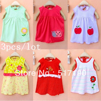 3pcs/lot 2013 hot Wholesale Girl princess candy color skirt children's embroidered skirt Style will send randomly