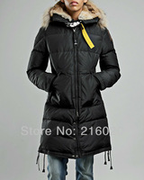 Wholesale US Brand Women Jacket 2013 Real Fur Down Coat Warm Overcoat Outdoor Clothes Long Parka BEAR Clothing