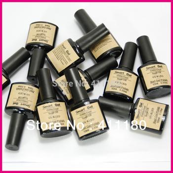 Free Shipping Soak Off UV LED Nail Color Gel Polish (10pcs color gel+1pc base +1pc top coat) 12Pcs/lot