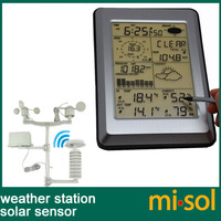 Professional Wireless Weather Station Touch Panel w/ Solar sensor, w/ PC interface