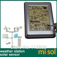Professional Wireless Weather Station Touch Panel w/ Solar sensor, w/ PC interface
