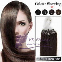 "100s 18""20""22"" Remy Loop Hair Extension #02 - dark brown  Micro Ring Human Hair 0.5g/s,50g  [Vkhair]"