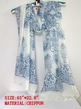 wholesale black chiffon scarf