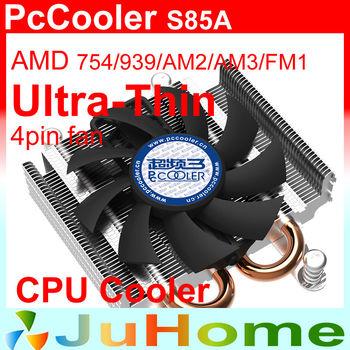 8cm fan 4pin fan, 2 heatpipe, 27mm height for HTPC mini case, ultra-thin, AMD FM2/FM1/AM3+, CPU fan, CPU cooler, PcCooler S85A