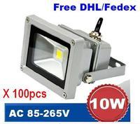 (100pcs per lot) 10W 85-265V Outdoor LED Flood light lamp Waterproof IP65 LED floodlights landscape lamps spot  garden lawn