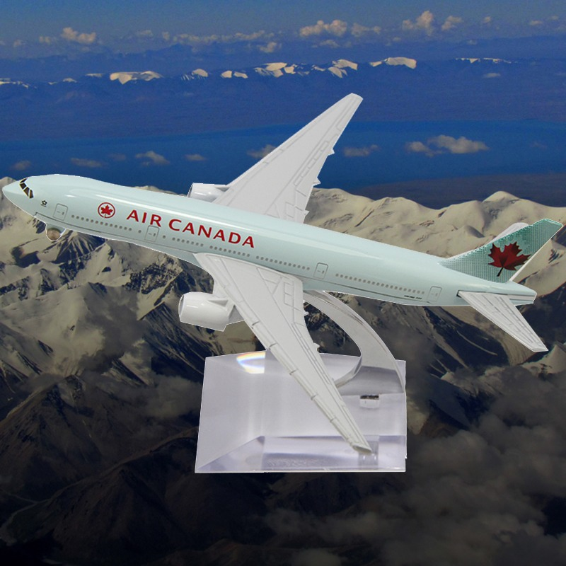 2014 Cars Pixar Juguetes Scale Models 16cm Metal B777 Air Canada Die Cast Boeing Commercial Plane Model Length for Chirstmas(China (Mainland))