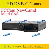 5pcs/lot  DVB cable receiver Q5 hd pvr cable tv box with Conax CAS CCCam Newcamd network sharing