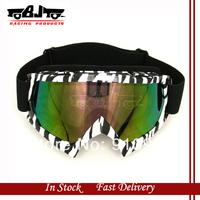 BJ-MG-001A High Qultiy Zebra style Stripe Motorcycle Motocross Bike Cross Country Flexible Goggles Tinted UV