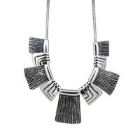 Fashion Women Vintage Anti-Silver Plated Charms Pendants Bib Choker Necklace Bijoux