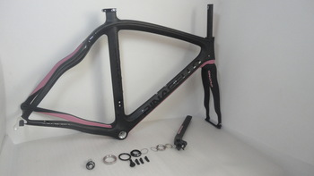 free shipping price!  matte pink BOB (black on black)Pinarello Dogma2 aero Full Carbon Bicycle Frame+fork+seatpost+clamp+headset