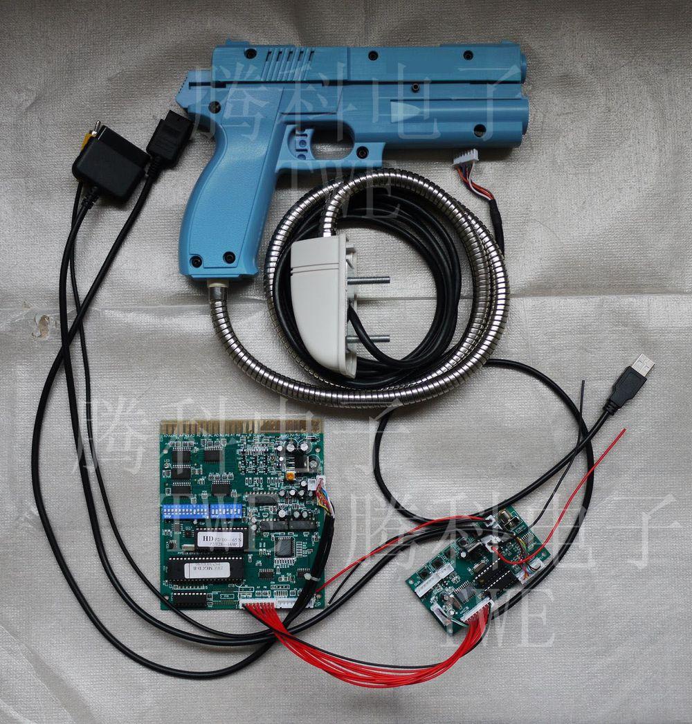 Arcade game kit Time crisis 3, for CRT screen, TWE MGCD JAMMA converter board & CRT light gun for PS2(China (Mainland))