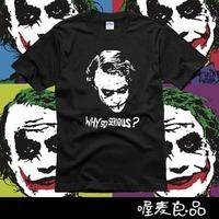 2014 New 100% cotton quality Joker funny batman mens lovers cute couple short sleeve t-shirts casual shirt  plus size TS002