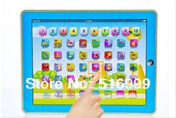 Free shipping 10pcs/lot spanish learning machine toys ipad y pad Tablet Table of the Computer as gift for kids baby(China (Mainland))