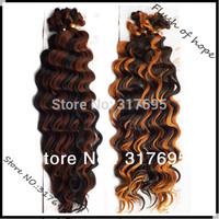 "18"" Black Elegant KK Deep Wave Kanekalon Synthetic Hair Extensions Hair Braid Bulk  Weaving F1/33 F2/30 2pcs/pack 6Packs/lot"