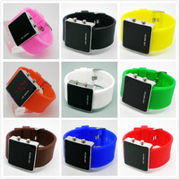 New fashion sport LED electronic watches men and women to see the birthday gift free shipping