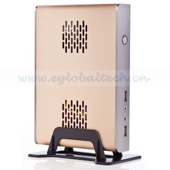 Mini PC Win7 Pre-installed Horizonal Small Desktop Computer Intel D525, 4G Mini ITX DDR3 and 500G HDD Mini Fanless X86 PC