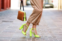 Shoes Women Pumps 2015 Summer T With Fluorescent Color Thick With Sexy Fish Mouth Women's Sandals High Heels Sapatos Femininos
