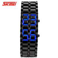 Brand Fashion LED Watches For Men And Women Stainless Steel Wristwatch For Lovers 30M Waterproof Swim Top Quality Watch