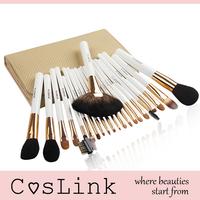 Zoreya Quality White Bridal Professional 22 Pcs Blush Powder Makeup Brush Sets
