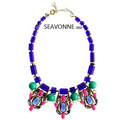 Freeshopping 2013 Fashion chunky necklaces statement jewelry Purple acrylic choker chains necklaces designer jewelry  N9327