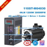 NEW 1.2kw  4N.M  AC SERVO MOTOR & DRIVER SYSTEM 110ST-M04030