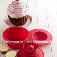 Hot!!! big top cupcake as seen on TV silicone bakeware/cake mold/tool, 1 set/lot (1 set=3pcs)