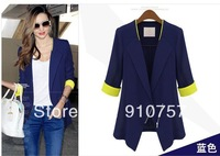 "The new ""Z"" fashion hit color thin style chiffon three Quarter small suit Korean version of Slim small suit"