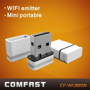 USB mini WiFi wireless adapter 150Mbps network Card Comfast CF-WU810N with RTL8188CUS wireless usb wlan adapter free shipping