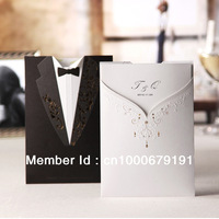 Personalized Groom & Bride Wedding Invitation (Set of 200) Colourful Photo Printable and Customizable Wholesale Free Shipping
