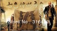 New Men Women Canvas Cow Leather Shoulder Bag Messenger Bag School Bag